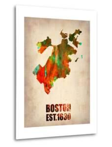 Boston Watercolor Map by NaxArt