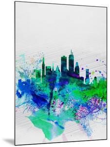Boston Watercolor Skyline by NaxArt