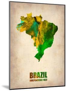 Brazil Watercolor Map by NaxArt