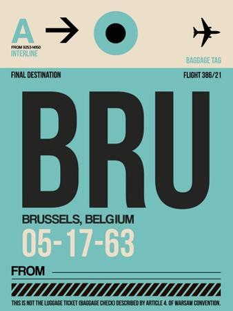 BRU Brussels Luggage Tag 1 by NaxArt