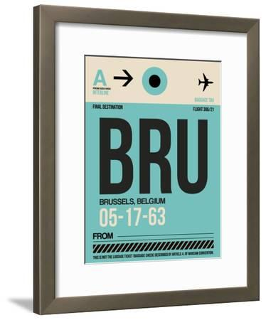 BRU Brussels Luggage Tag 1