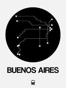 Buenos Aires Black Subway Map by NaxArt