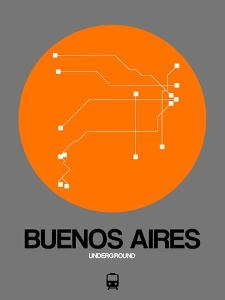 Buenos Aires Orange Subway Map by NaxArt