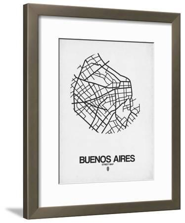Buenos Aires Street Map White