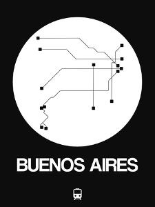 Buenos Aires White Subway Map by NaxArt