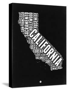 California Black and White Map by NaxArt