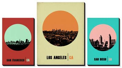 California Cities Circle Skylines by NaxArt