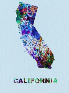 California Color Splatter Map by NaxArt