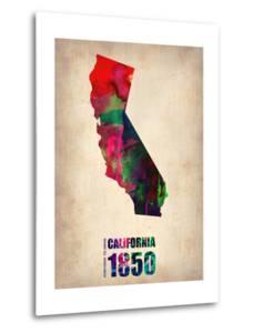 California Watercolor Map by NaxArt