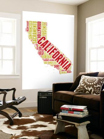 California Word Cloud Map