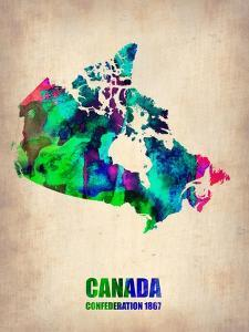 Canada Watercolor Map by NaxArt
