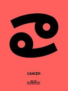 Cancer Zodiac Sign Black by NaxArt