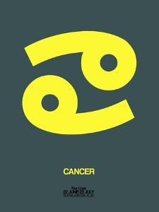 Cancer Zodiac Sign Yellow by NaxArt