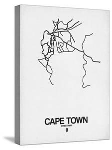 Cape Town Street Map White by NaxArt