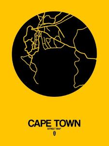 Cape Town Street Map Yellow by NaxArt