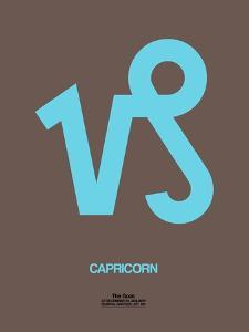 Capricorn Zodiac Sign Blue by NaxArt