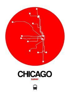 Chicago Red Subway Map by NaxArt