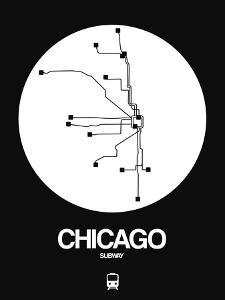 Chicago White Subway Map by NaxArt