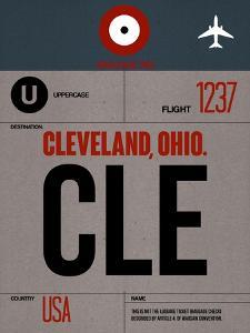 CLE Cleveland Luggage Tag I by NaxArt