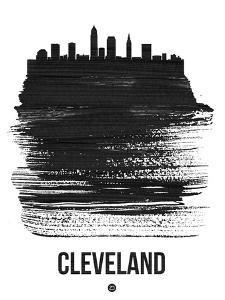 Cleveland Skyline Brush Stroke - Black by NaxArt