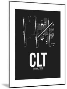 CLT Charlotte Airport Black by NaxArt
