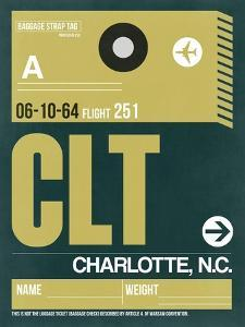 CLT Charlotte Luggage Tag II by NaxArt