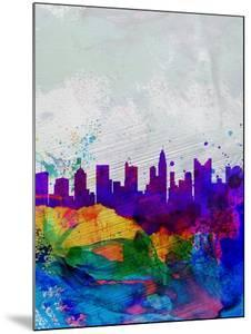 Columbus Watercolor Skyline by NaxArt