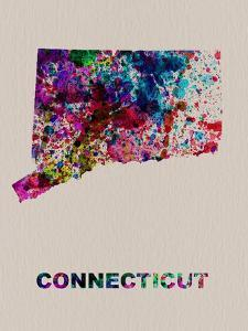 Connecticut Color Splatter Map by NaxArt
