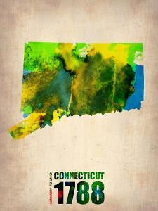Connecticut Watercolor Map by NaxArt
