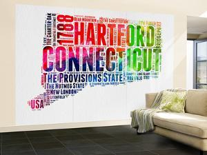 Connecticut Watercolor Word Cloud by NaxArt