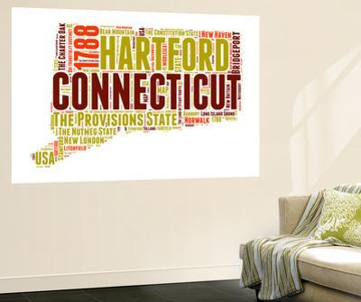 Connecticut Word Cloud Map