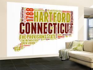 Connecticut Word Cloud Map by NaxArt