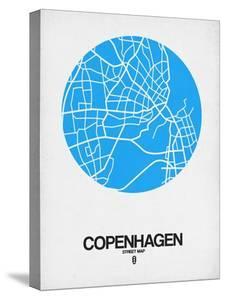 Copenhagen Street Map Blue by NaxArt