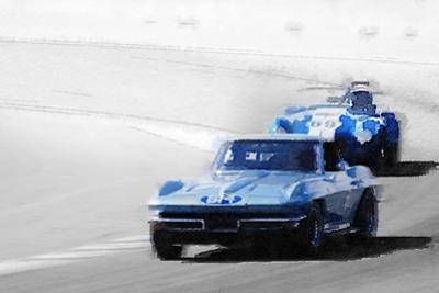 Corvette and AC Cobra Shelby Watercolor