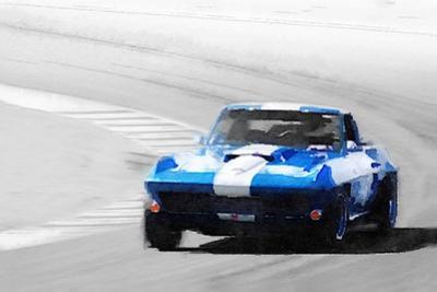 Corvette Stingray Laguna Seca Watercolor