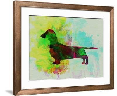 Dachshund Watercolor by NaxArt