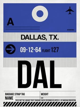 DAL Dallas Luggage Tag 1 by NaxArt