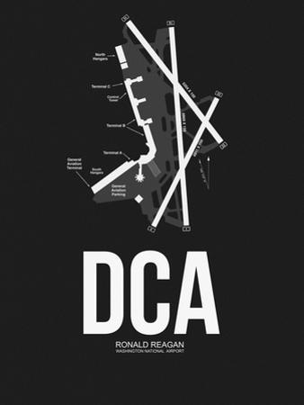 DCA Washington Airport Black by NaxArt