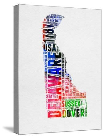 Delaware Watercolor Word Cloud