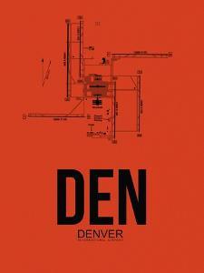 DEN Denver Airport Orange by NaxArt
