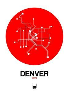 Denver Red Subway Map by NaxArt