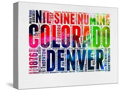 Denver Watercolor Word Cloud