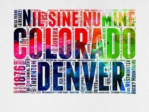 Denver Watercolor Word Cloud by NaxArt