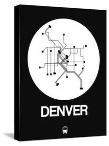 Denver White Subway Map by NaxArt