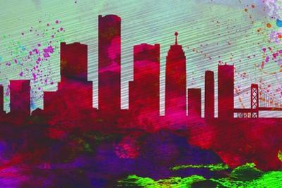 Detroit City Skyline by NaxArt