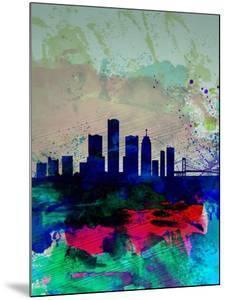 Detroit Watercolor Skyline by NaxArt
