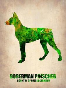 Doberman Pinscher Poster by NaxArt