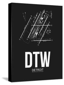 DTW Detroit Airport Black by NaxArt