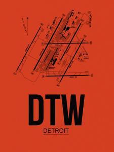 DTW Detroit Airport Orange by NaxArt