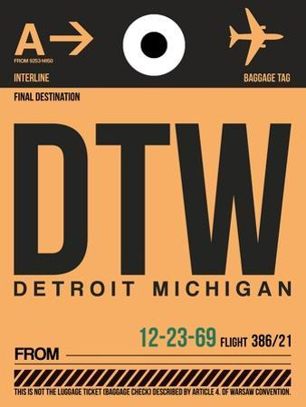 DTW Detroit Luggage Tag 1 by NaxArt
